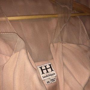 Haute HIPPIE Vintage Blush Silk Dress
